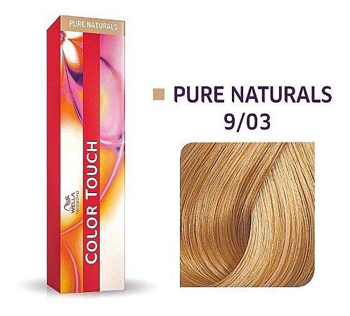 Wella Color Touch Tonalizante 9/03 Louro Ultraclaro Natural Dourado 60g