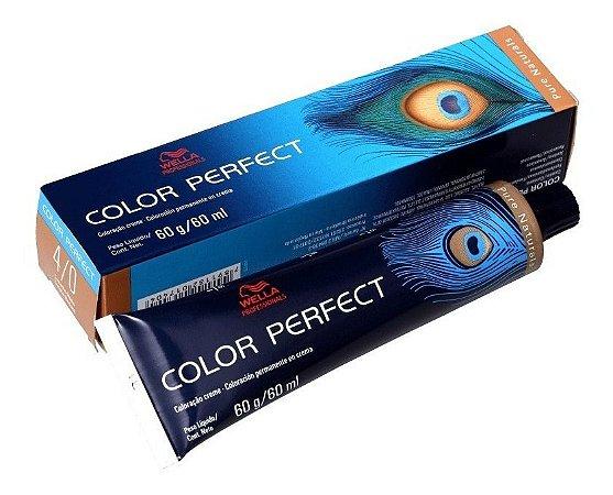 Wella Color Perfect Tinta 4/0 Castanho Médio 60g