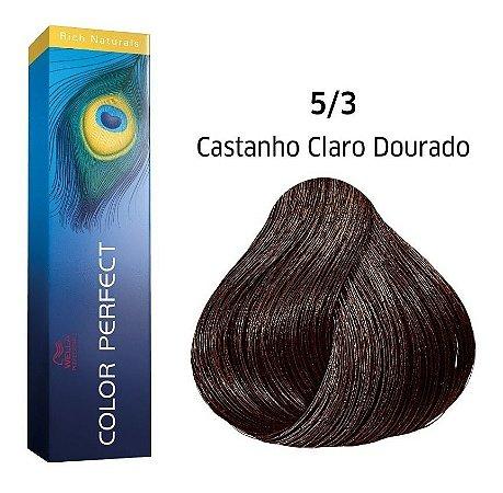Wella Color Perfect Tinta 5/3 Castanho Claro Dourado 60g