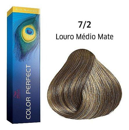 Wella Color Perfect Tinta 7/2 Louro Médio Matte 60g