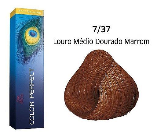 Wella Color Perfect Tinta 7/37 Louro Médio Dourado Marrom 60g