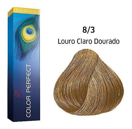 Wella Color Perfect Tinta 8/3 Louro Claro Dourado 60g