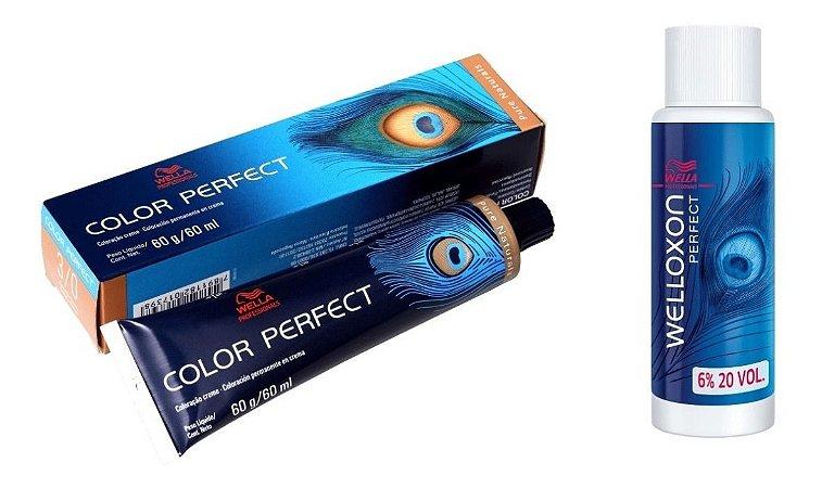 Wella Color Perfect Tinta 3/0 Castanho Escuro + Welloxon 20vol