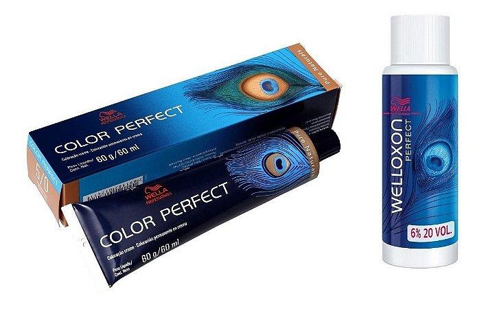 Wella Color Perfect Tinta 5/0 Castanho Claro + Welloxon 20vol