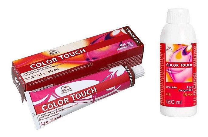 Wella Color Touch Tonalizante 6/7 Louro Escuro Marrom + Emulsão 13vol