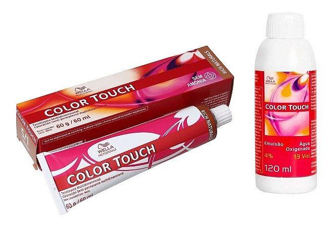 Wella Color Touch Tonalizante 5/1 Castanho Claro Acinzentado + Emulsão 13vol