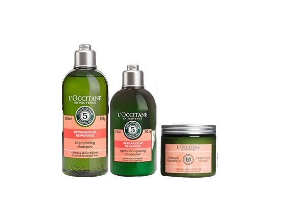 Loccitane Repair - Rotina de Reparação Capilar Shampoo Condicionador e Máscara