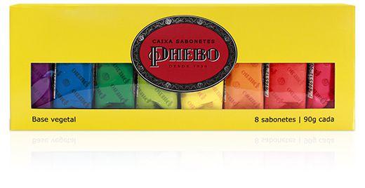 Phebo Caixa Sabonete Amarelo 8un