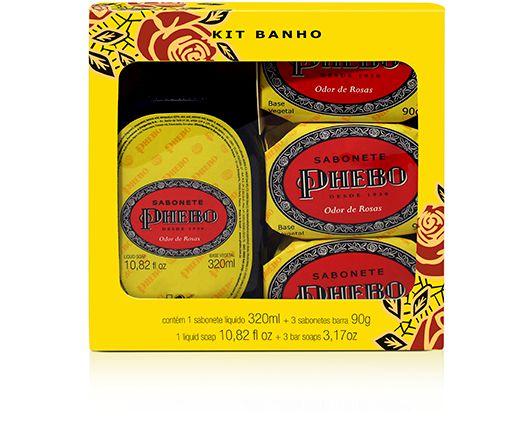 Phebo Kit Banho Odor de Rosas