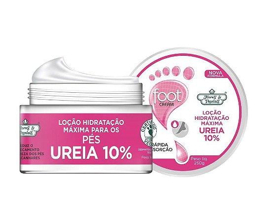 Flores e Vegetais Loção de Hidratação Máxima Uréia 10% PÉS 250g