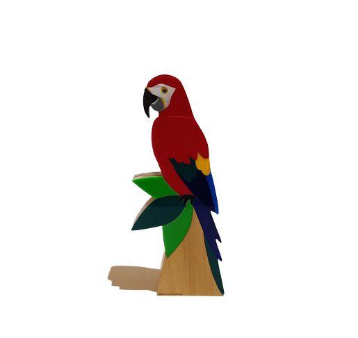 Patricia Maranhão Escultura Arara Vermelha