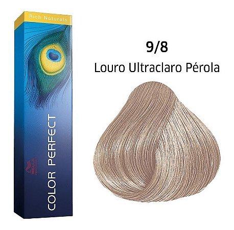 Wella Color Perfect Tinta 9/8 Louro Ultraclaro Pérola 60g