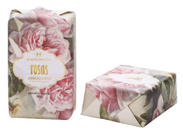 Madressenza Sabonete Vegetal Rosas 180g