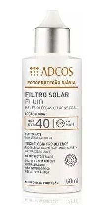 Adcos Fotoproteção - Filtro Solar FPS40 Fluido Efeito Matte 50ml