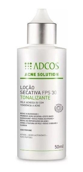 Adcos Acne Solution - Loção Secativa FPS30 Tonalizante 50ml