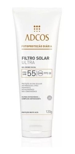 Adcos Fotoproteção - Filtro Solar Ultra FPS55 Gel Creme 120g