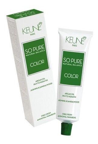 Keune So Pure Color 4.15 Castanho Médio Cinza Mogno 60ml
