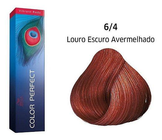 Wella Color Perfect Tinta 6/4 Louro Escuro Avermelhado 60g