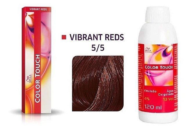 Wella Color Touch Tonalizante 5/5 Castanho Claro Acaju + Emulsão 13vol