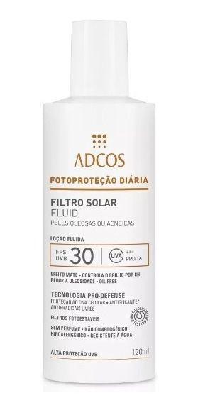 Adcos Fotoproteção - Filtro Solar FPS 30 Fluido 120ml