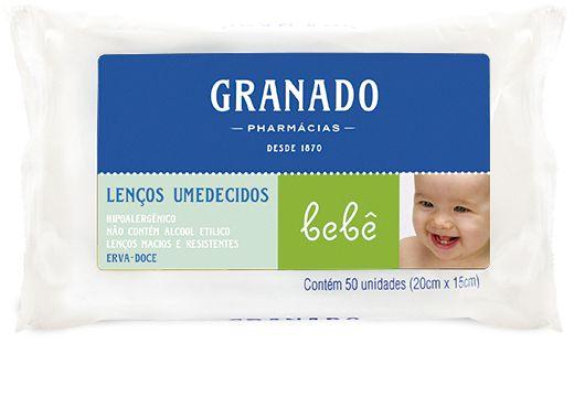 Granado Bebê Lenços Umedecidos Erva-doce 50un