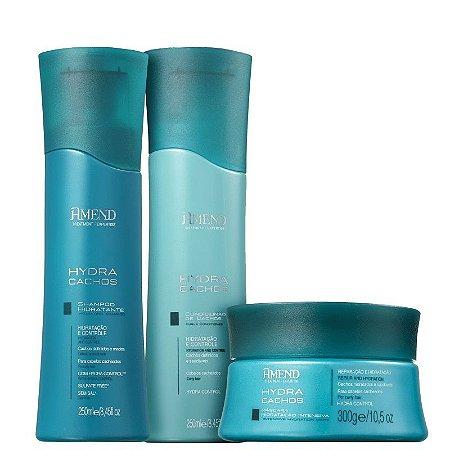 Amend Hydra Cachos - Kit Shampoo Condicionador e Máscara