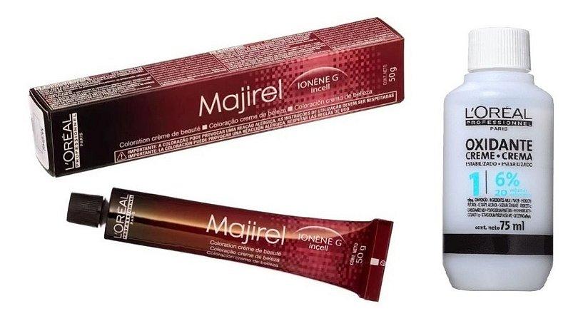 Loreal Majirel Tintura 6.0 Louro Esc Nat Prof + Oxidante 20vol 75ml