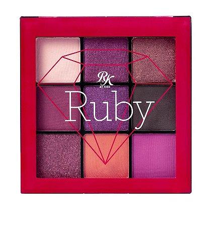 Kiss Paleta De Sombras 9 Cores - Ruby