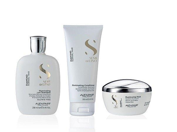 Alfaparf Diamond Kit Shampoo Condicionador e Máscara