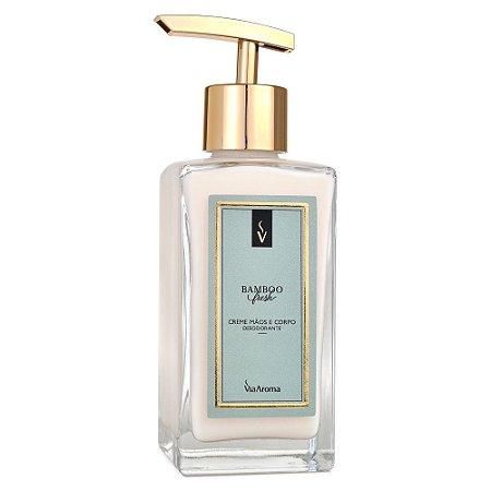 Via Aroma Creme Mãos e Corpo Desodorante Bamboo Fresh 250ml