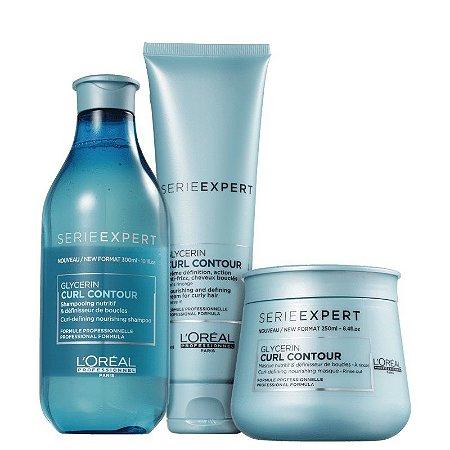 Loreal Serie Expert Curl Contour -  Shampoo Máscara e Creme de Pentear
