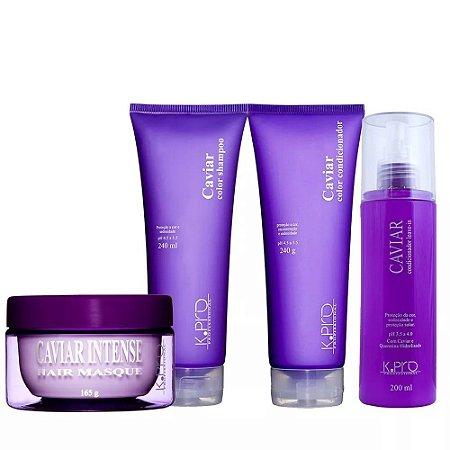 Kpro Caviar Color - Kit Shampoo Condicionador Máscara e Leave-in