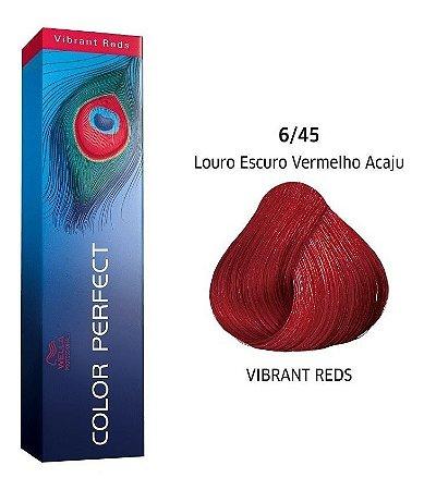 Wella Color Perfect Tinta 6/45 Louro Esc Averm Acaju 60g