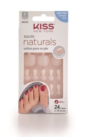 Kiss Unhas Postiças para os Pés Salon Naturals