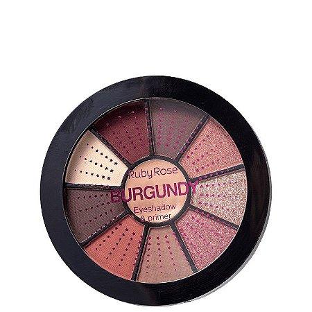 Ruby Rose Mini Paleta de Sombras com Primer - Burgundy