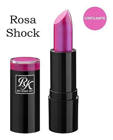 Kiss Batom Bala Rosa Shock