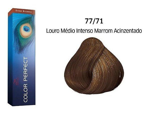 Wella Color Perfect Tinta 77/71 Louro Med Int Marrom Acinzen