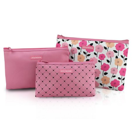Jacki Design Kit Necessaire 3 Peças Pink Lover - Rosa