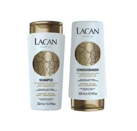 Lacan Mar Sol e Piscina - Kit Shampoo e Condicionador