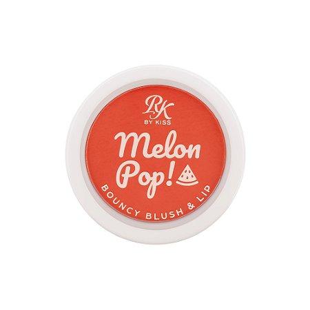 Kiss Melon Pop Bouncy Blush e Lip - Red Pop