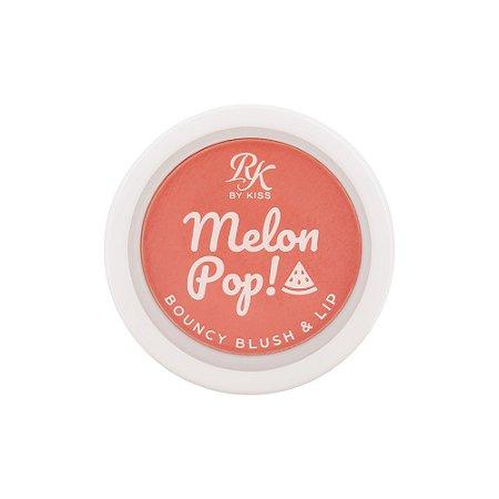 Kiss Melon Pop Bouncy Blush e Lip - Coral Pop