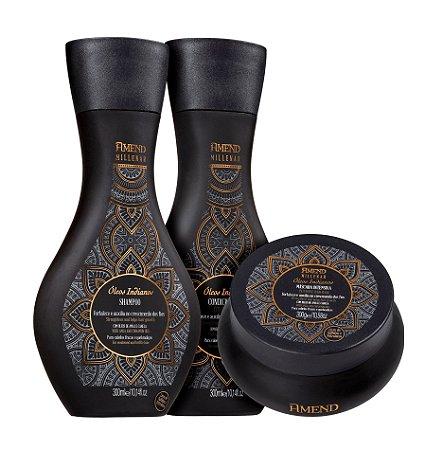 Amend Millenar Óleos Indianos - Kit Shampoo Condicionador e Máscara