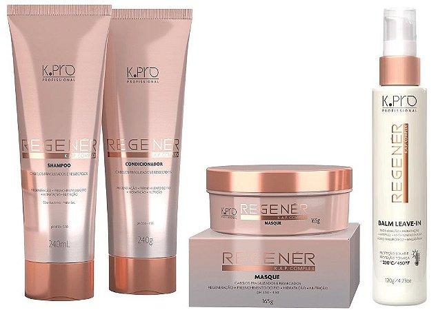 Kpro Regener K.A.P Complex - Kit Shampoo Condicionador Máscara e Leave-in