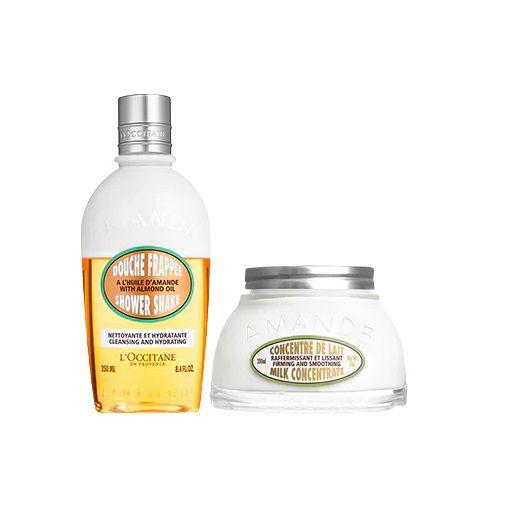 Loccitane Amande - Rotina Duo Banho e Hidratação Amêndoa - Shower Shake e Hidratante Firmador
