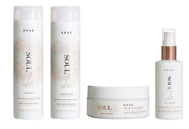 Braé Soul Color - Kit Shampoo Condicionador Máscara e Sérum