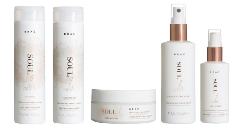 Braé Soul Color - Kit Shampoo Condicionador Máscara Leave-in Cabelos Grossos e Sérum