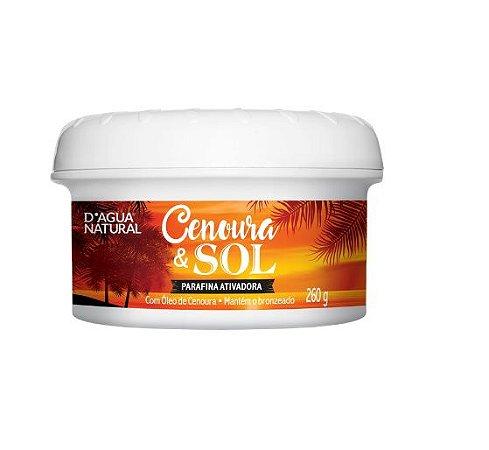 Parafina Ativadora Cenoura e Sol Dágua Natural 260g