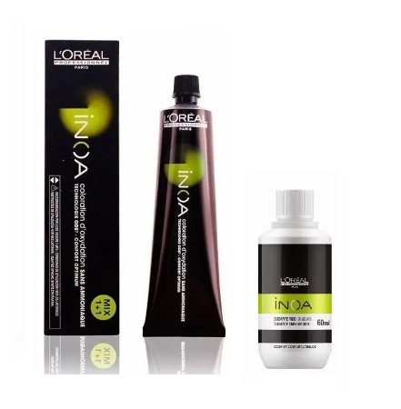Loreal Inoa Kit Coloração 7.0 Louro Cobertura Profunda + Ox 20vol