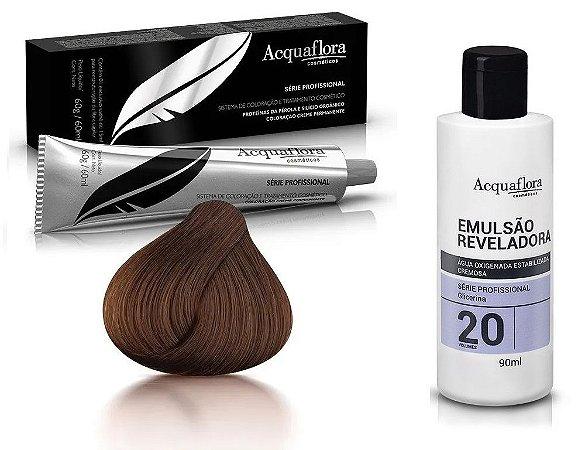 Acquaflora Kit Coloração 5.0 Castanho Claro + Emulsão 20vol