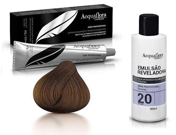 Acquaflora Kit Coloração 6.0 Louro Escuro + Emulsão 20vol